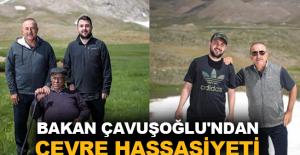 Bakan Çavuşoğlu'ndan çevre hassasiyeti