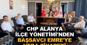 CHP Alanya İlçe Yönetimi'nden Başsavcı Emre'ye veda ziyareti