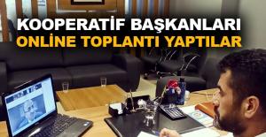 Kooperatif başkanları online toplantı yaptılar