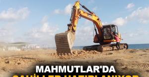 Mahmutlar'da sahiller hazırlanıyor