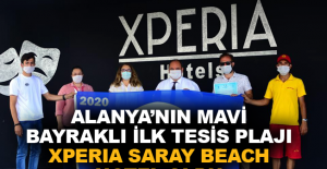 Xperia Saray Beach Hotel Alanya'da mavi bayraklı ilk tesis oldu