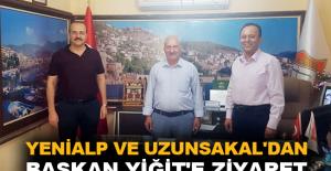 Yenialp ve Uzunsakal'dan Başkan Yiğit'e ziyaret