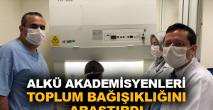 ALKÜ Akademisyenleri toplum bağışıklığını araştırdı