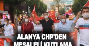 Alanya CHP'den meşaleli kutlama