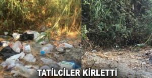 Tatilciler kirletti, Alanya Belediyesi temizledi