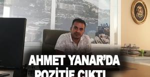 Ahmet Yanar'da pozitif çıktı