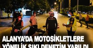 Alanya'da motosikletlere yönelik sıkı denetim