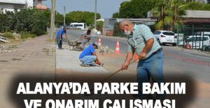 Alanya'da parke bakım ve onarım çalışması