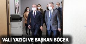 Vali Yazıcı ve Başkan Böcek Antalya'yı konuştu