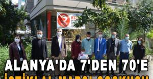 Alanya'da 7'den 70'e İstiklal Marşı Coşkusu