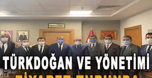 Türkdoğan ve yönetimi ziyaret turunda