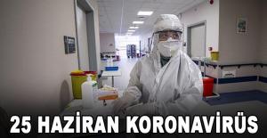 25 Haziran koronavirüs tablosu açıklandı
