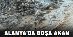 Alanya'da boşa akan su için ceza yediler