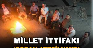Millet İttifakı 'çoban ateşi' yaktı