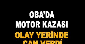 Oba'da Motor Kazası