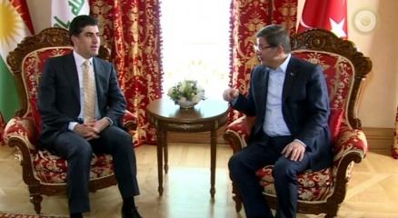 Davutoğlu Barzani'yi kabul etti