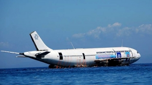 Aydın'da Kargo Uçağı Suya Böyle Batırıldı