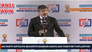 Ak Parti Antalya Belediye Başkanları Adayları Tanıtım Toplantısı Canlı Yayın